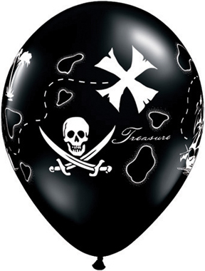 "11"" Pirate's Treasure Map Onyx Black (50 ct.)"