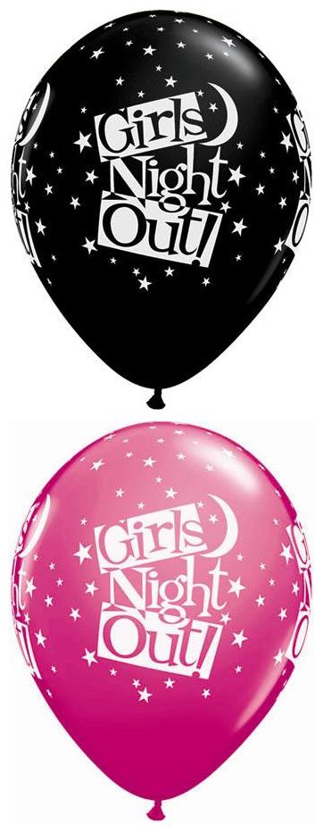 "11"" Girls Night Out Stars Onyx Black & Wild Berry 50s"