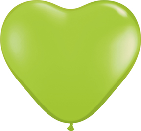 """6"""" Heart Latex Balloons (100 Count) Lime Green"""