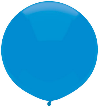 """17"""" Outdoor Display Balloons (72 Count) Bright Blue"""