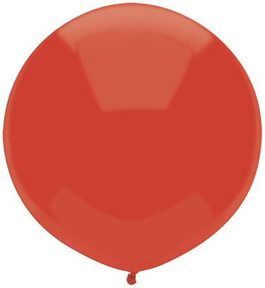 """17"""" Outdoor Display Balloons (72 Count) Real red"""