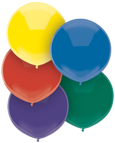 """17"""" Outdoor Balloons (72 Count) Royal Rich Assortment"""