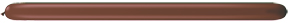 260Q Chocolate Brown Twister Balloons 50 Count Q-PAK