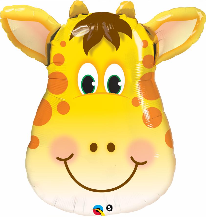"""32"""" Jolly Mylar Giraffe Balloon"""