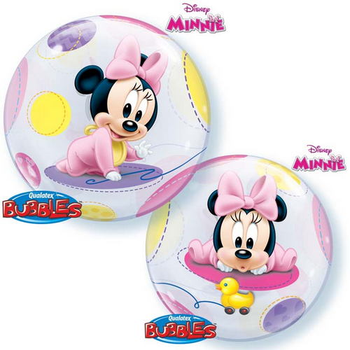 "22"" Single Bubble Baby Minnie"