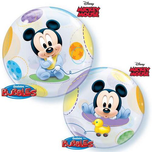"""22"""" Single Bubble Baby Mickey"""