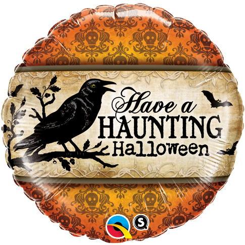 "18"" Have a Haunting Halloween Balloon"
