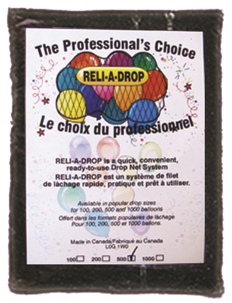 "14' Reli-A-Drop Net holds 500 9"" Balloons (14' X 6')"