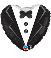 "18"" Heart Wedding Tuxedo"