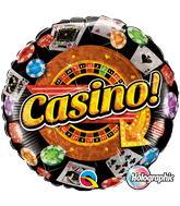 "18"" Round Holograph Casino!"