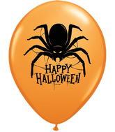 "11"" Happy Halloween Spider Balloon (50 Count)"
