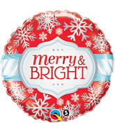 """18"""" Merry and Bright Snowflakes"""