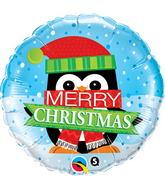 "18"" Merry Christmas Penguins"