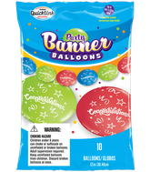 Party Banner Balloons 10 Count Congratulations