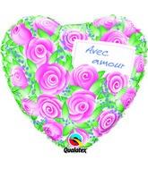 18 Avec amour – Roses ballon (emballé)