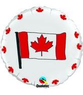 "18"" Canada Flag Packaged Mylar Balloon"