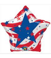 "18"" Patriotic Stars Balloons"