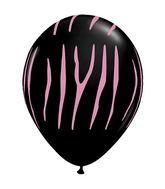 """11"""" Zebra Stripes Onyx Black w/Pink Ink (50 ct.)"""