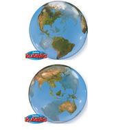 """22"""" Earth Globe Bubble Balloon"""