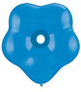 "16"" Geo Blossom Latex Balloons  (25 Count) Dark Blue"