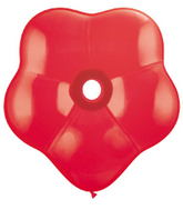 """16"""" Geo Blossom Latex Balloons  (25 Count) Red"""
