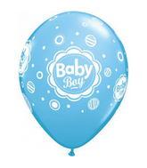 "11"" Baby Boy Dots Latex Balloons (50 ct.)"
