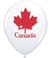 """11"""" Patriotic Maple Leaf  White (50 ct.)"""