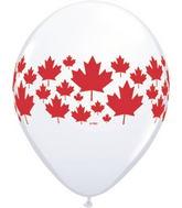 "11"" Maple Leaf-A-Round White (50 ct.) Canada"