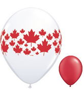 """11"""" Maple Leaf-A-Round Assorted (50 ct.) Canada red"""