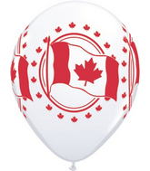 """11"""" Canadian Flag  White (50 ct.) Canada"""