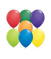 "5""  Qualatex Latex Balloons  Carnival    100CT"