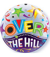 """22"""" Over The Hill Stars Plastic Bubble Balloons"""