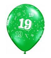 """11"""" Number 19 Nineteen Festive Assortment 50 per bag"""