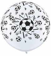 3' Soccer Balls White (2 ct.)