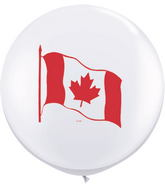 3' Canada Flag White (2 ct.) (2 sided)