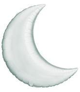 """35"""" Crescent Moon Silver Balloon"""