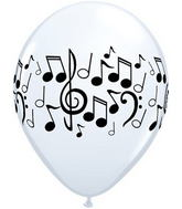 "11"" Music Notes  White (50 ct.)"
