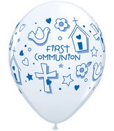 "11""  First Communion Symbols – Boy  White (50 ct.)"