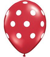 """11"""" Big Polka Dots Red (50 ct.)"""