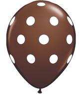 "11"" Big Polka Dots Chocolate Brown (50 ct.)"