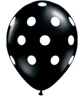 "11"" Big Polka Dots Onyx Black (50 ct.)"