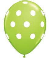 "11"" Big Polka Dots Lime Green (50 ct.)"