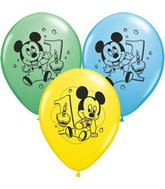 "11"" Assorted Latex Balloons Mickey Mouse"