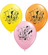 "11"" Assorted Latex Balloons Minnie Mouse"