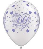 "11"" Little Hearts  Pearl White 60 Anniversary  (50 ct.)"