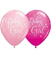 "11"" Baby Girl Stars Assorted Pink & & Wild Berry (50 ct.)"