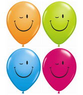 """11"""" Winking Smile Face Assorted (50 ct.)"""