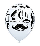 "11"" Mustache Styles Around White (50 ct.)"