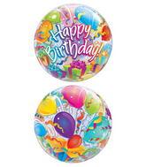 "22"" Birthday Surprise Plastic Bubble Balloons"