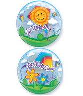 """22"""" Get Well Soon! Kites Plastic Bubble Balloons"""